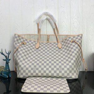 LV Damier Ebene Azur  White MM bags